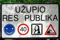 Uzupis sign
