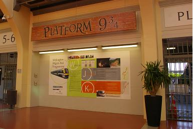 The Wellington train station features a Platform 9 3/4. I had no idea the Hogwarts Express picked up in New Zealand.