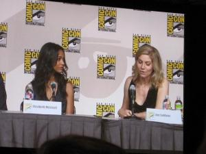 Uhura and Juliet also talked about women in Hollywood. There was no sign of Spock or the Dharma Initiative.